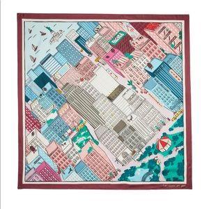 Kate Spade New York Aerial NYC Map Silk Scarf